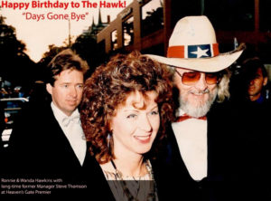 Ronnie & Wanda Hawkins with former long-time manager Steve Thomson at Heaven's Gate Premier.