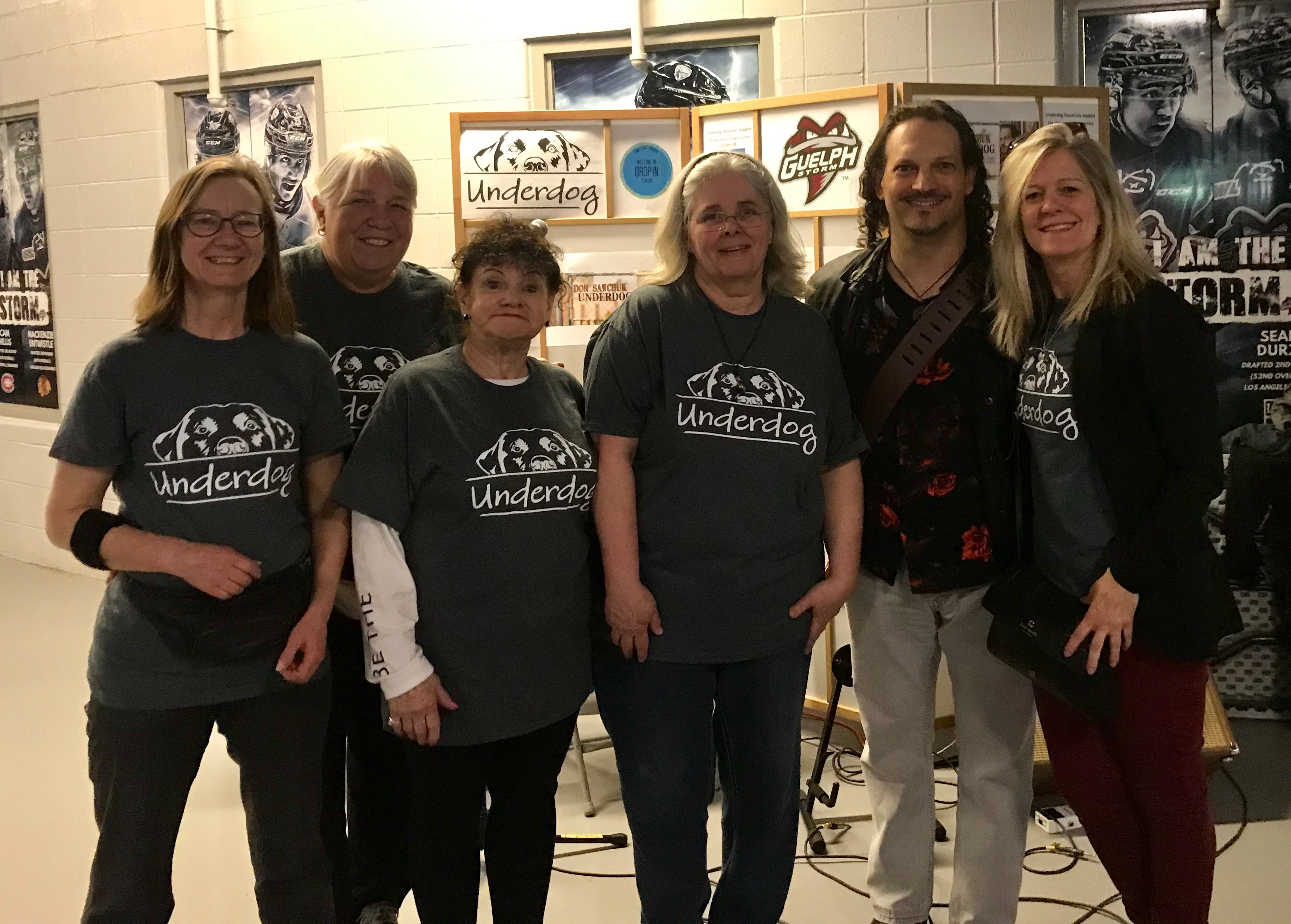 Street Team Volunteers (from left to right) Sandy Bassie, Barbara Heagy, Sandy Massengale, Heather Johnston, Don Sawchuk, Diane Pelow.